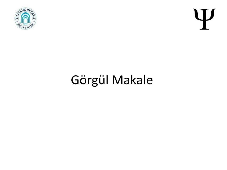 Görgül Makale