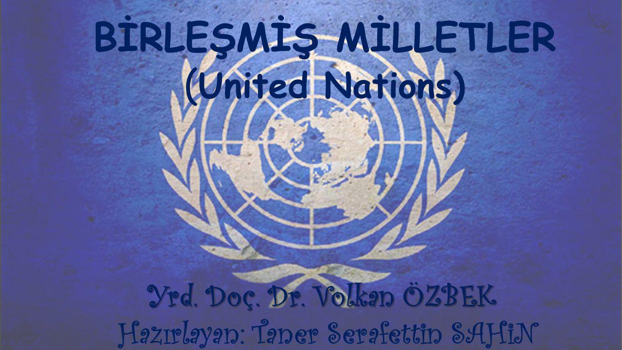BİRLEŞMİŞ MİLLETLER (United Nations)