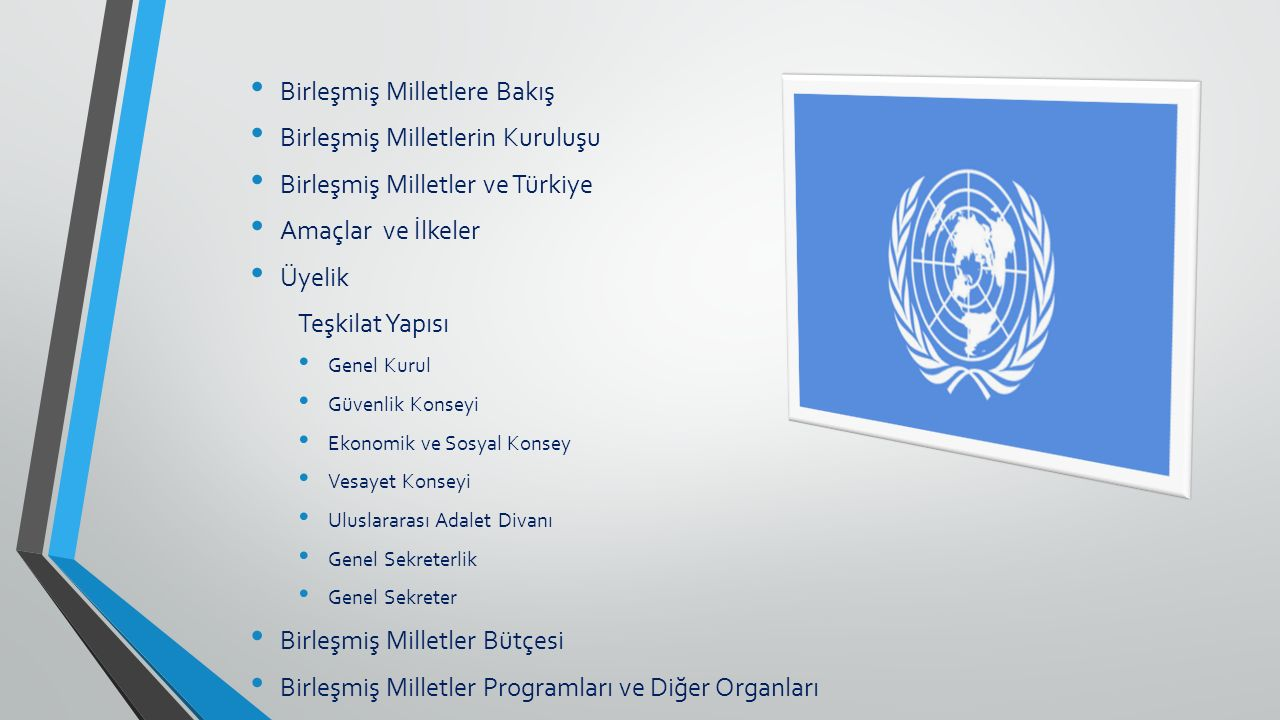 Birleşmiş Milletlere Bakış Birleşmiş Milletlerin Kuruluşu
