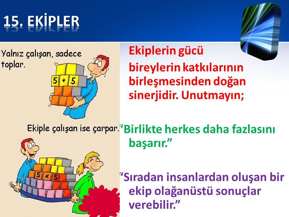 15. EKİPLER