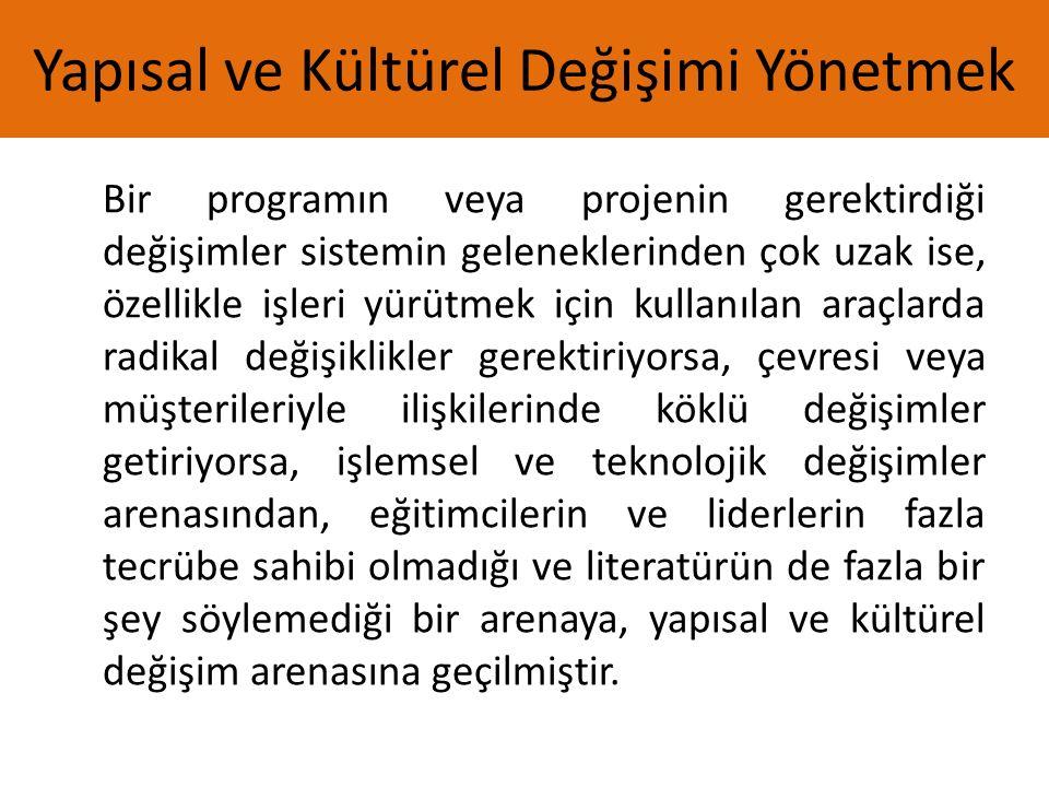 Yapısal ve Kültürel Değişimi Yönetmek