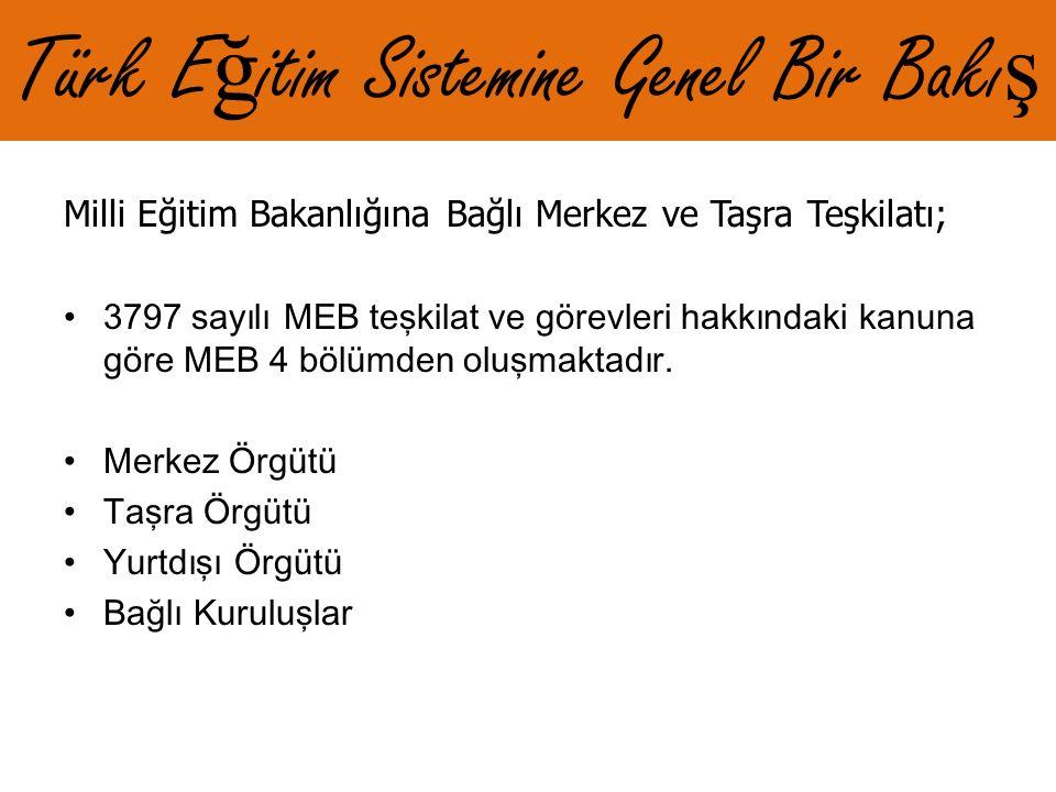 Türk Eğitim Sistemine Genel Bir Bakış