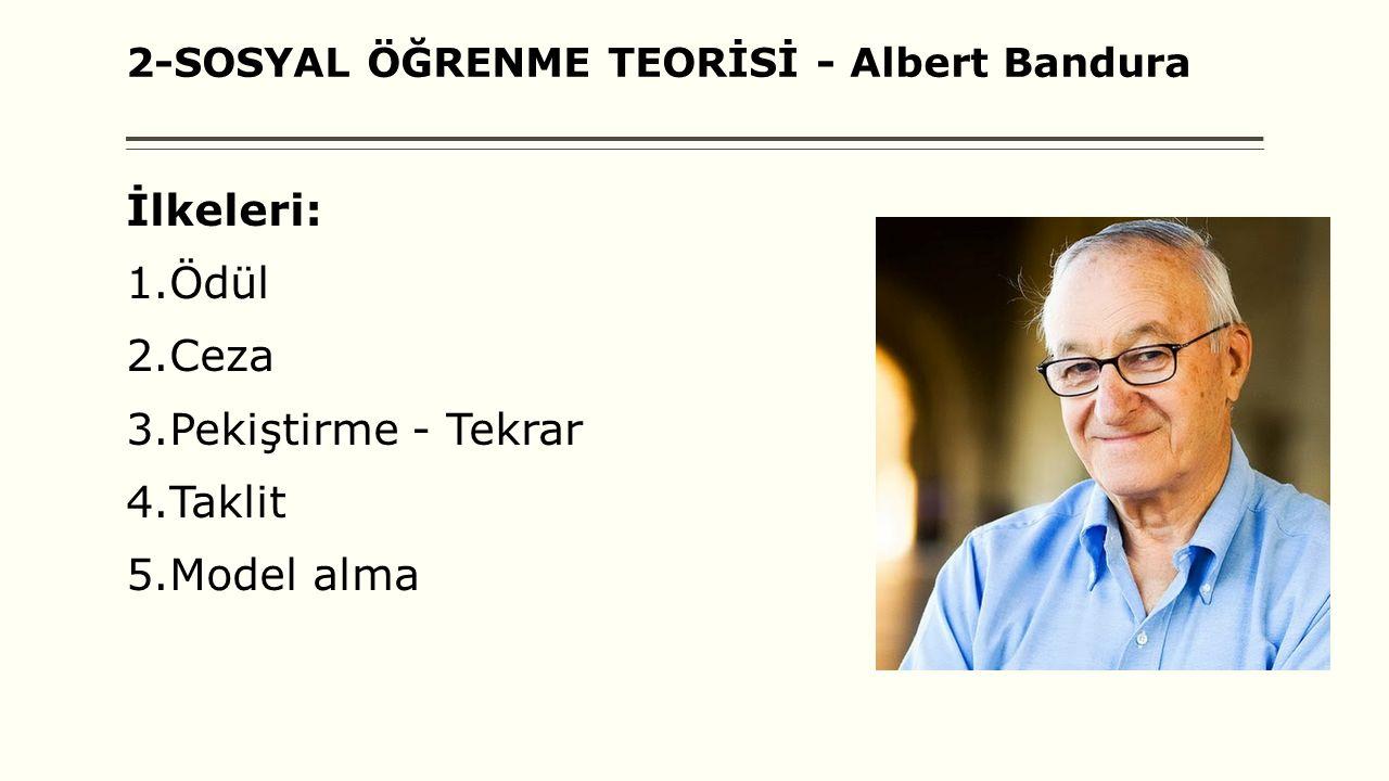 2-SOSYAL ÖĞRENME TEORİSİ - Albert Bandura
