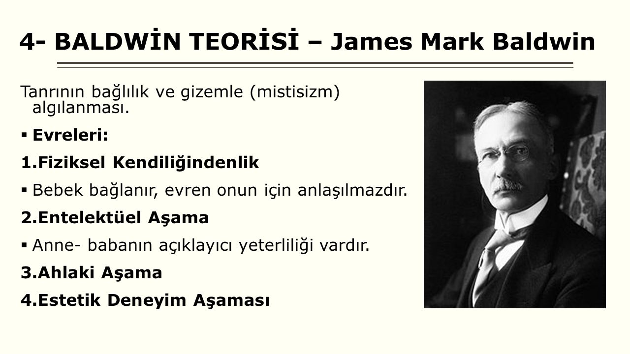 4- BALDWİN TEORİSİ – James Mark Baldwin
