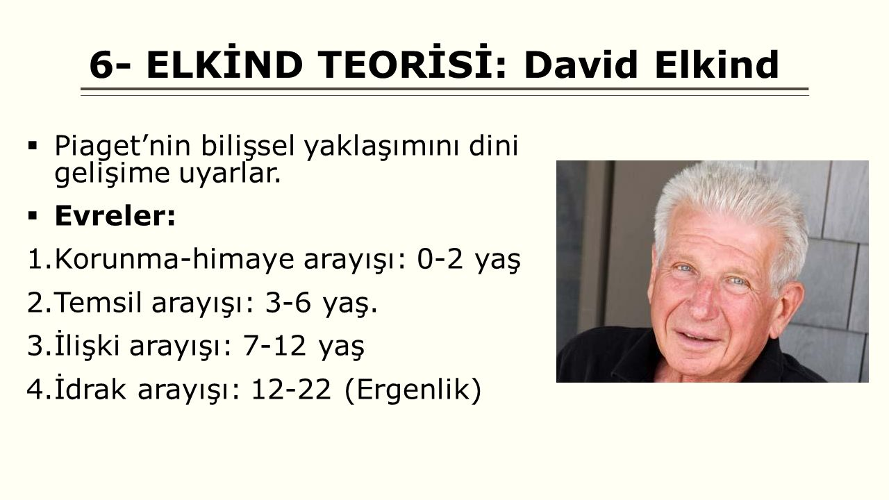 6- ELKİND TEORİSİ: David Elkind