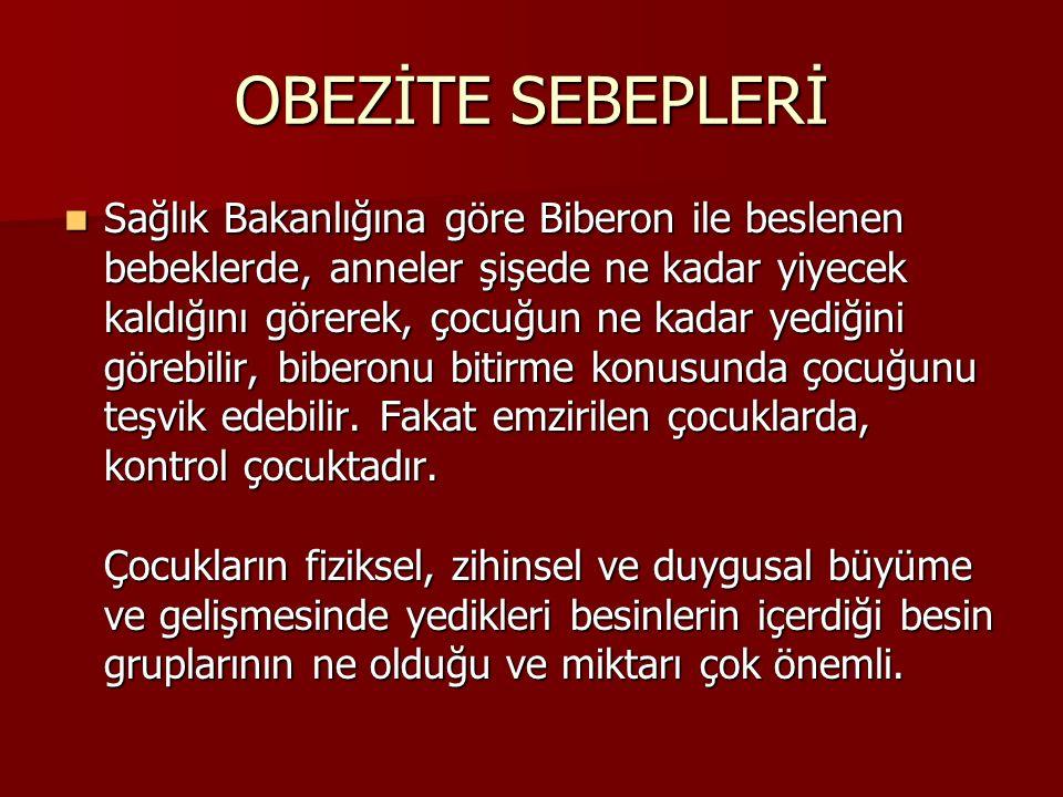 OBEZİTE SEBEPLERİ