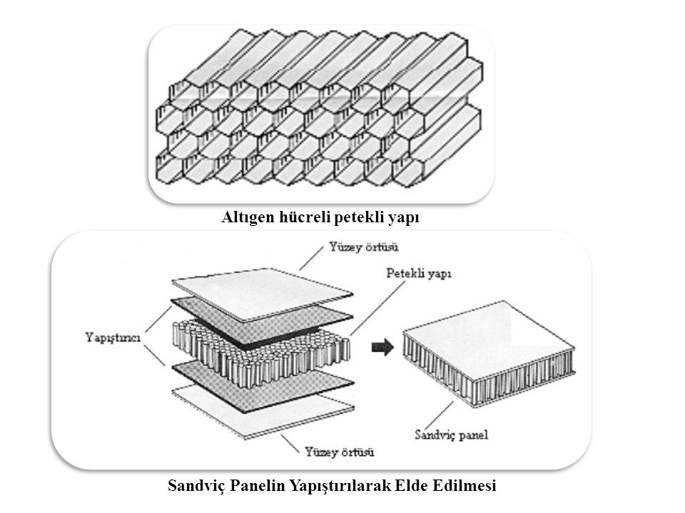 Altıgen hücreli petekli yapı