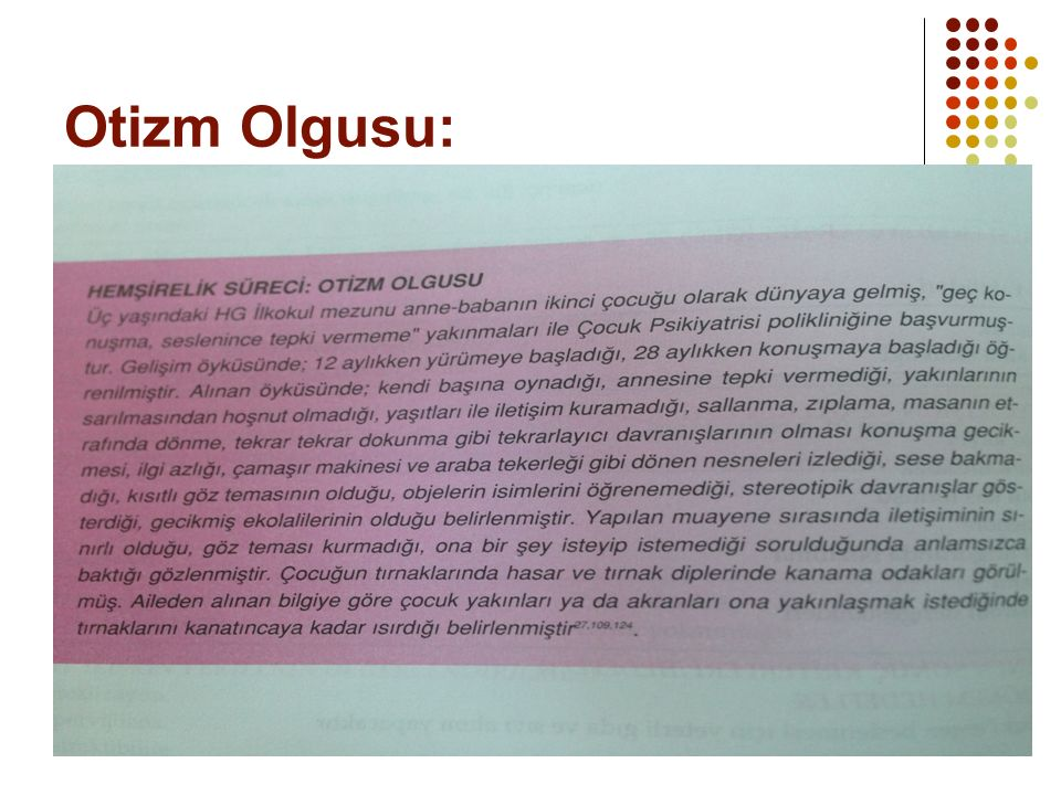 Otizm Olgusu: