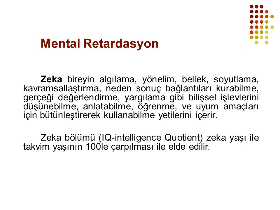 Mental Retardasyon