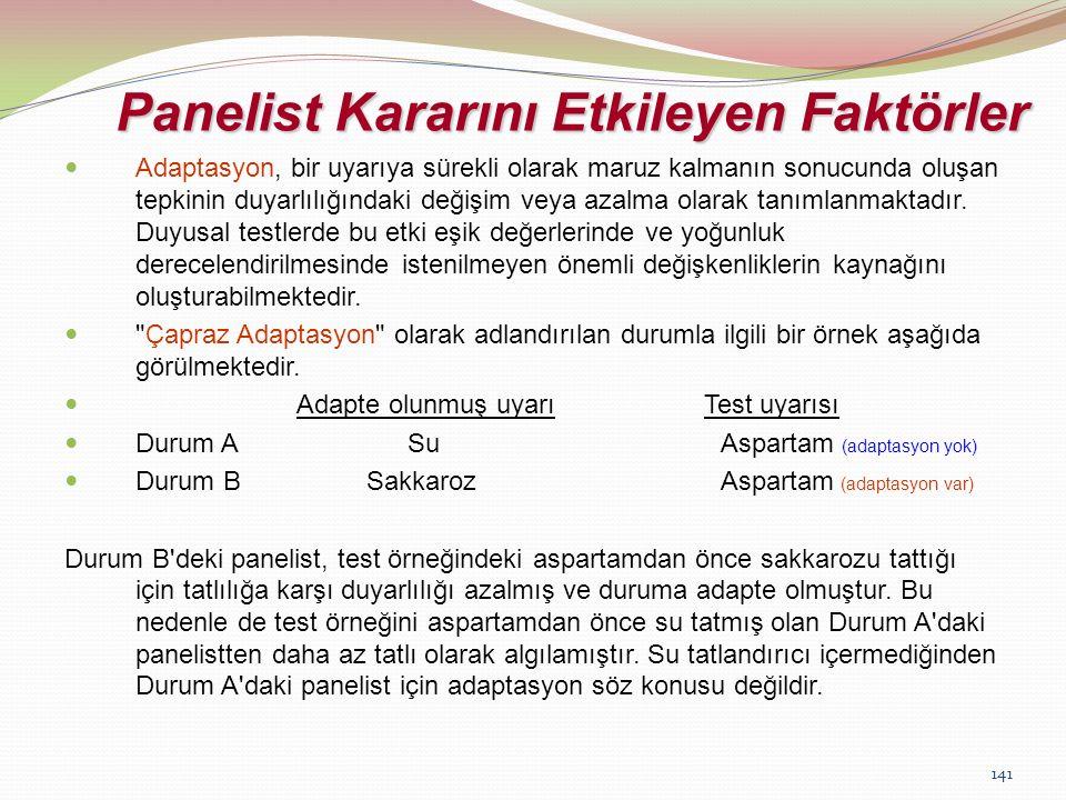 Panelist Kararını Etkileyen Faktörler
