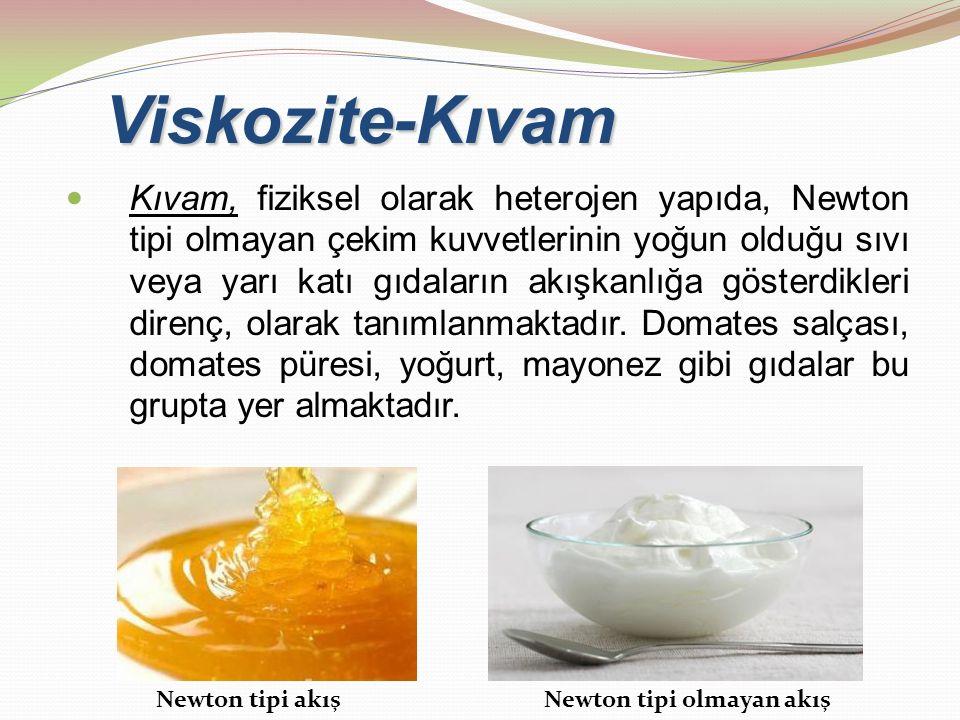 Viskozite-Kıvam
