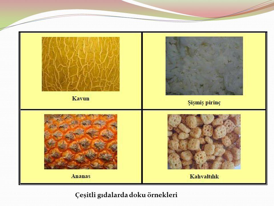 Çeşitli gıdalarda doku örnekleri