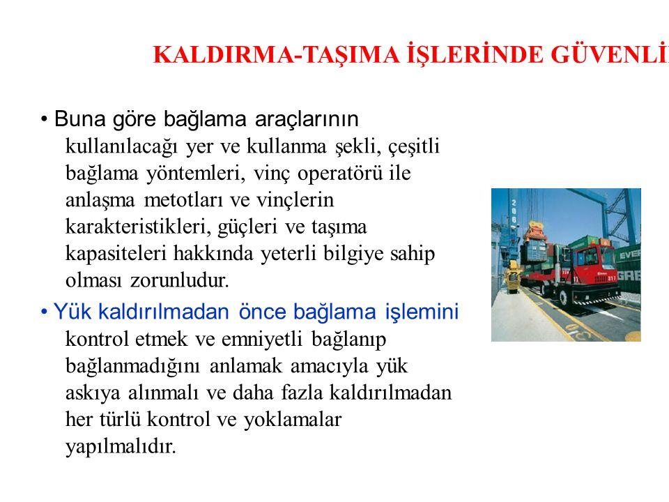 KALDIRMA-TAŞIMA İŞLERİNDE GÜVENLİK