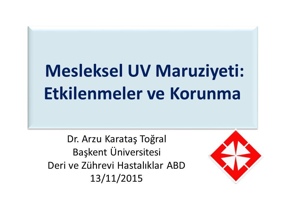 Mesleksel UV Maruziyeti: Etkilenmeler ve Korunma