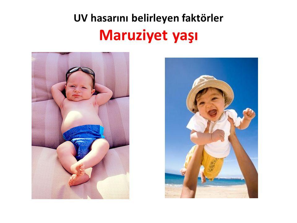 UV hasarını belirleyen faktörler Maruziyet yaşı
