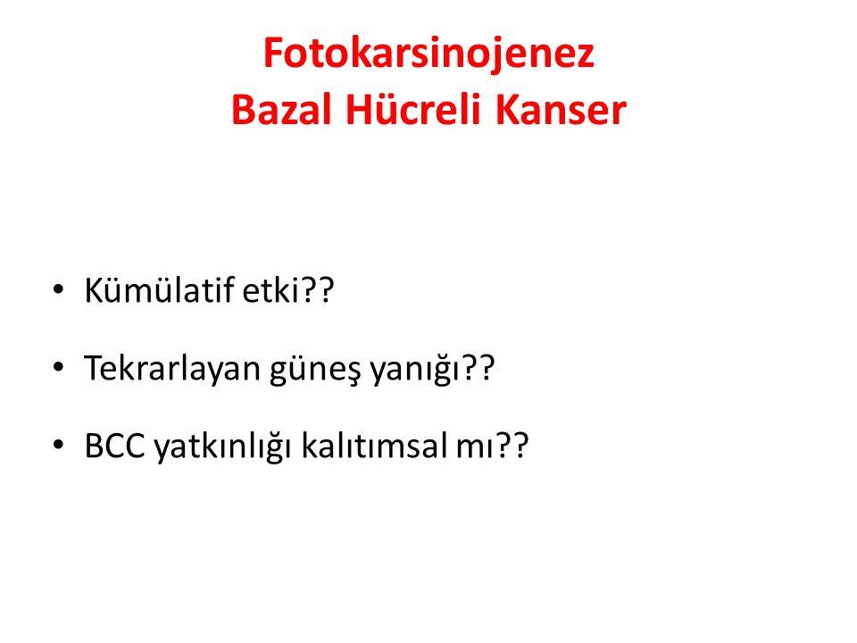 Fotokarsinojenez Bazal Hücreli Kanser