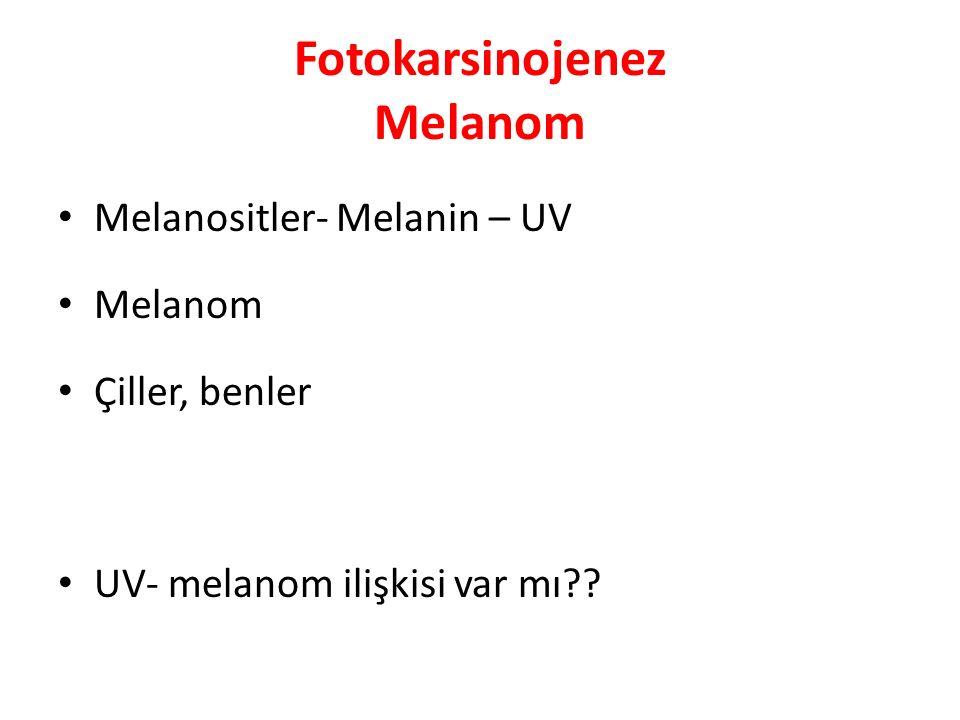 Fotokarsinojenez Melanom