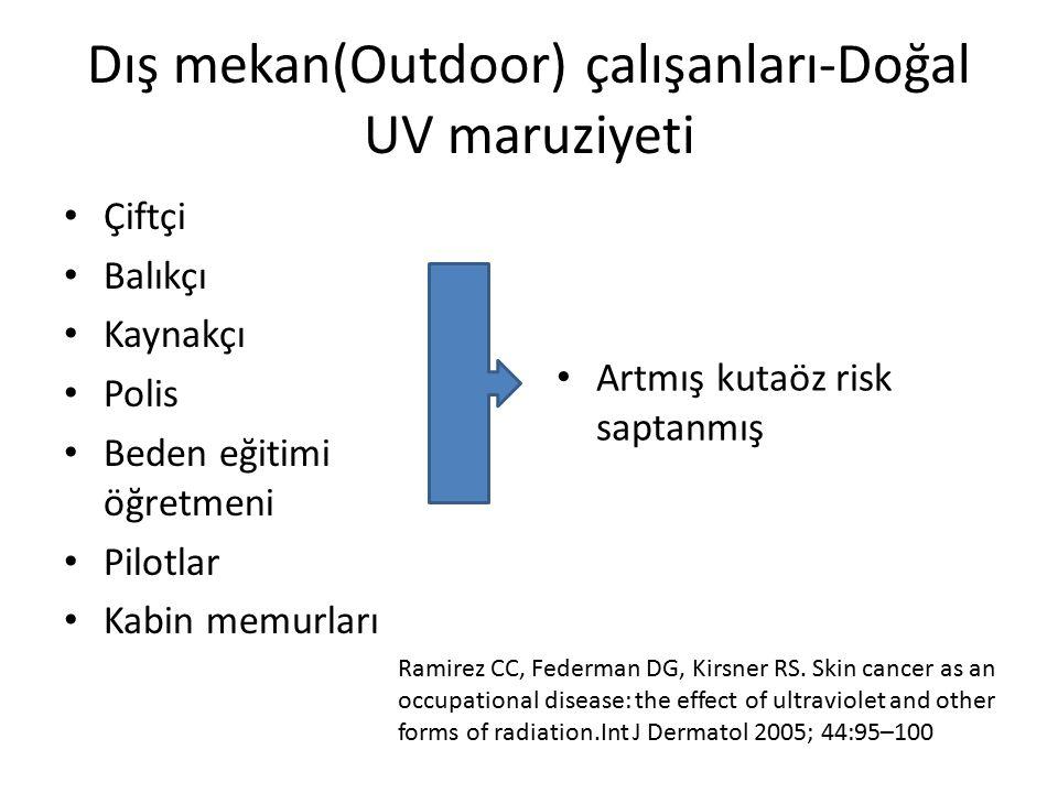 Dış mekan(Outdoor) çalışanları-Doğal UV maruziyeti