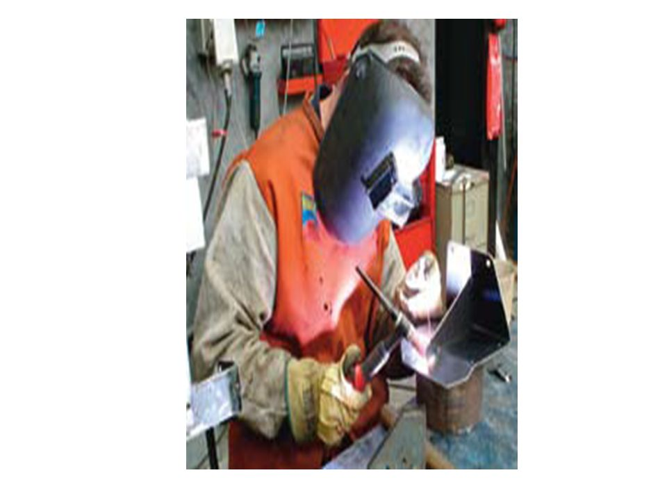 . An example of unsafe welding practice.