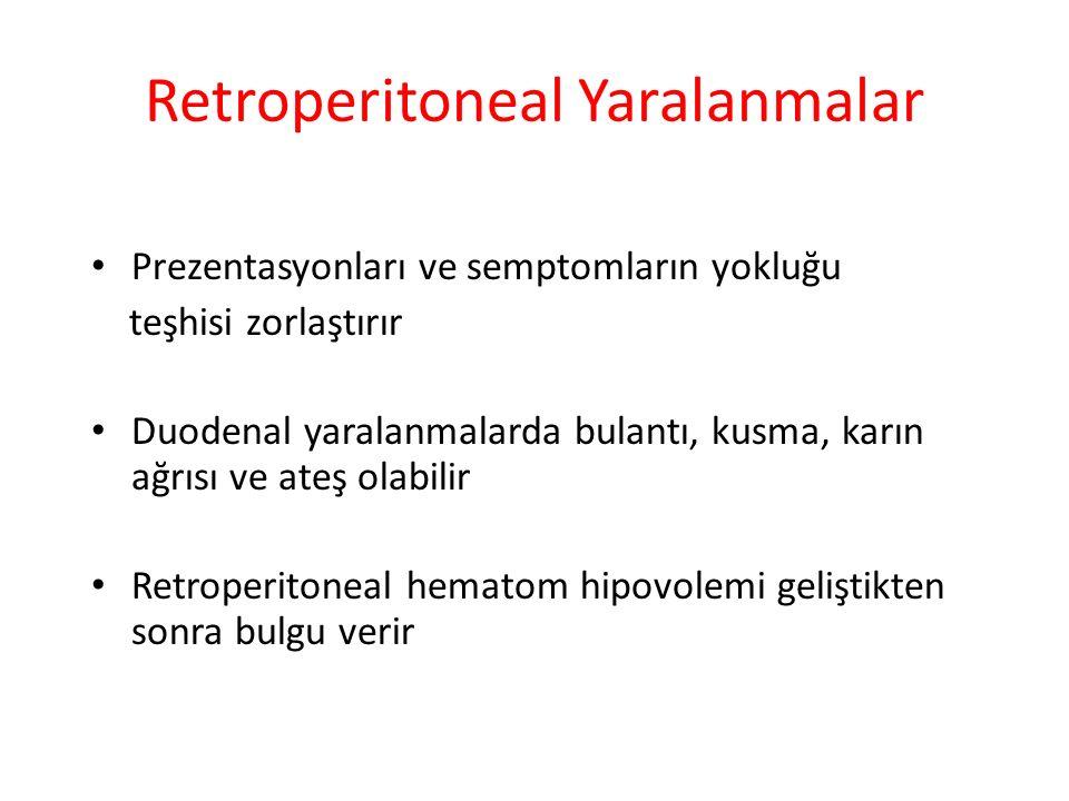 Retroperitoneal Yaralanmalar
