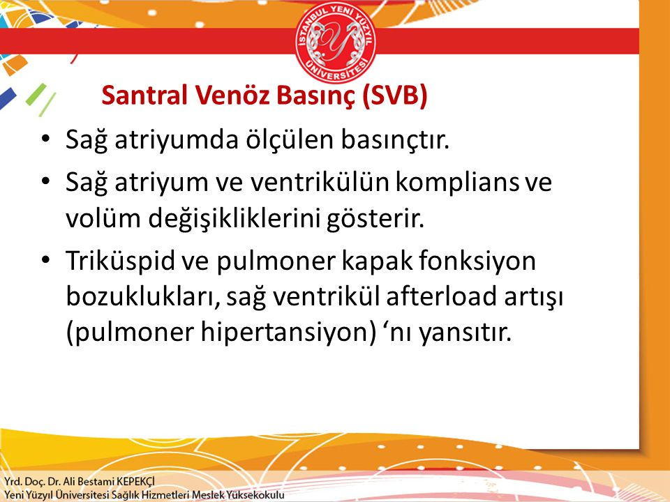 Santral Venöz Basınç (SVB)