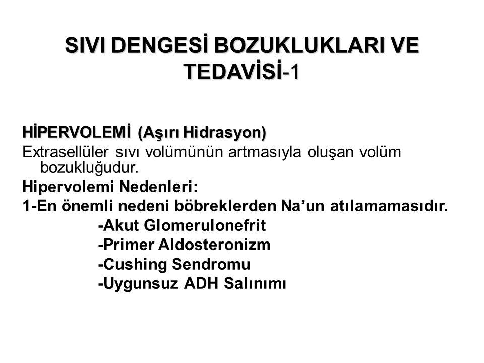 SIVI DENGESİ BOZUKLUKLARI VE TEDAVİSİ-1