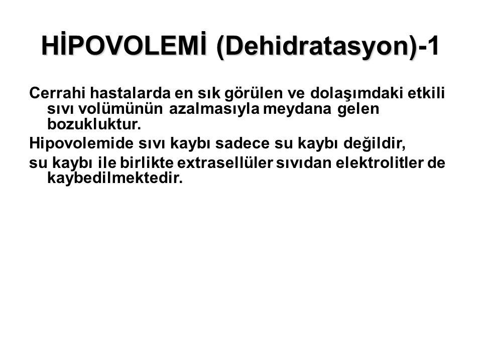 HİPOVOLEMİ (Dehidratasyon)-1