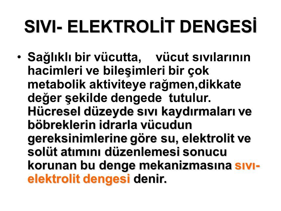 SIVI- ELEKTROLİT DENGESİ