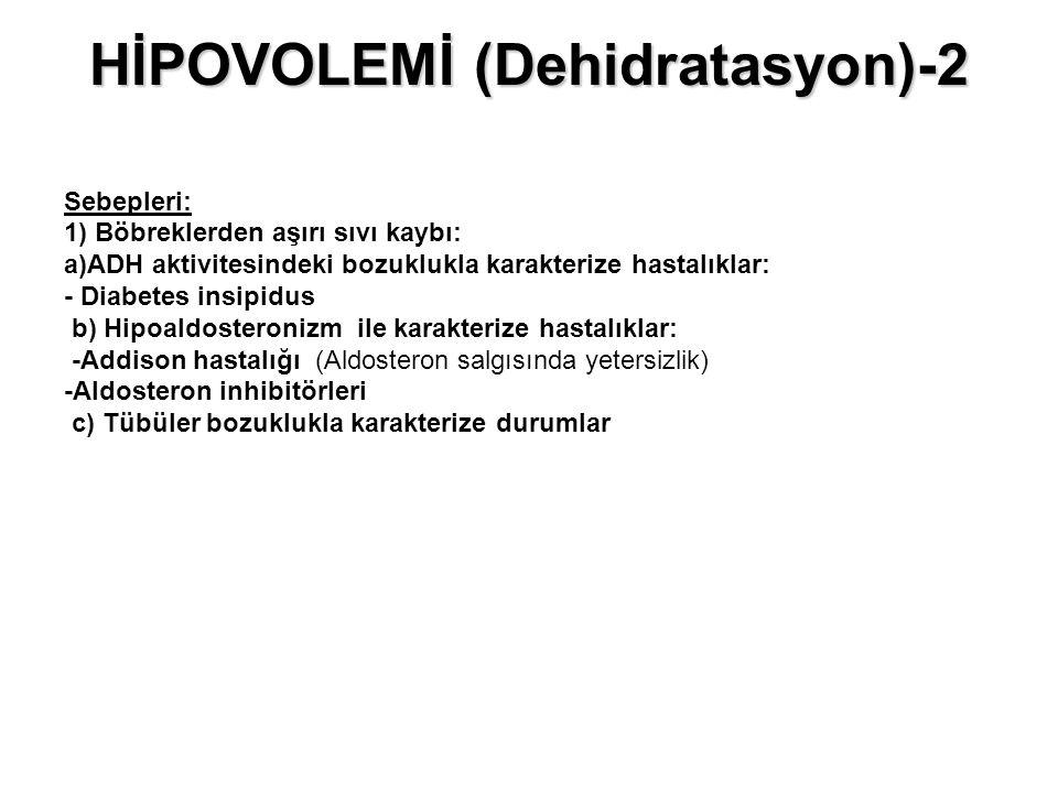 HİPOVOLEMİ (Dehidratasyon)-2