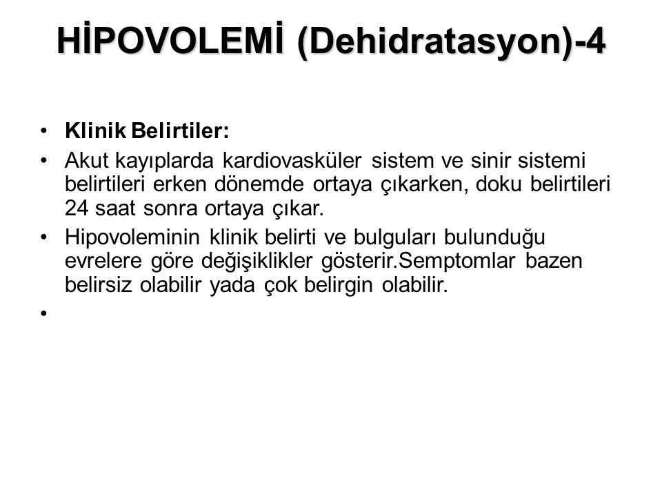 HİPOVOLEMİ (Dehidratasyon)-4