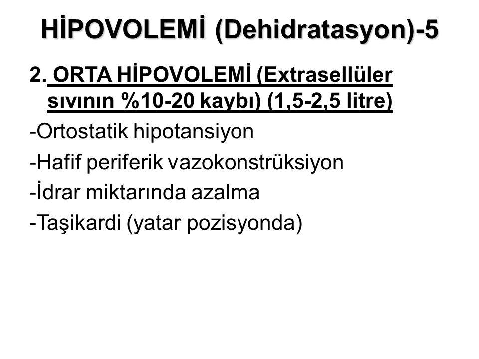 HİPOVOLEMİ (Dehidratasyon)-5