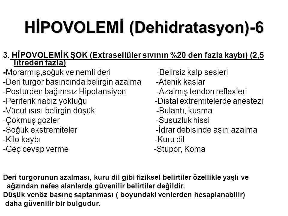 HİPOVOLEMİ (Dehidratasyon)-6