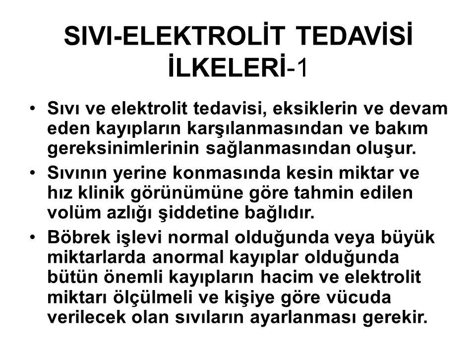 SIVI-ELEKTROLİT TEDAVİSİ İLKELERİ-1