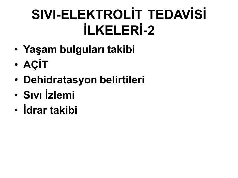 SIVI-ELEKTROLİT TEDAVİSİ İLKELERİ-2