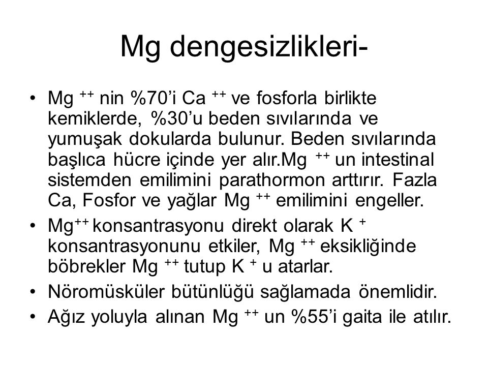 Mg dengesizlikleri-