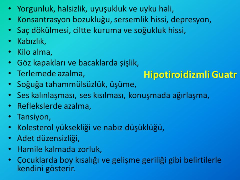 Hipotiroidizmli Guatr