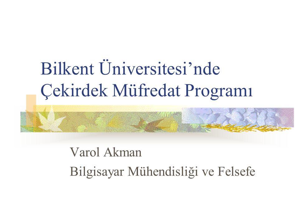 Bilkent Üniversitesi'nde Çekirdek Müfredat Programı
