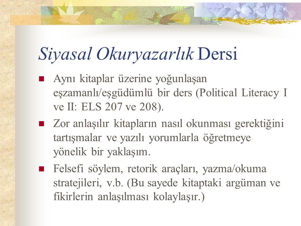 Siyasal Okuryazarlık Dersi