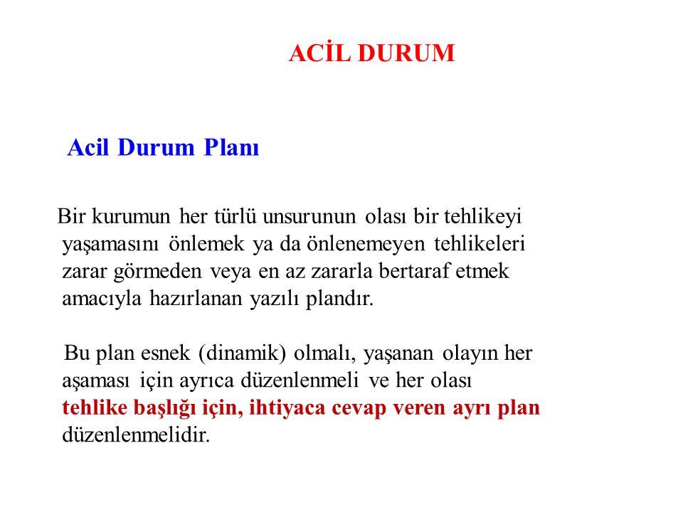 ACİL DURUM Acil Durum Planı