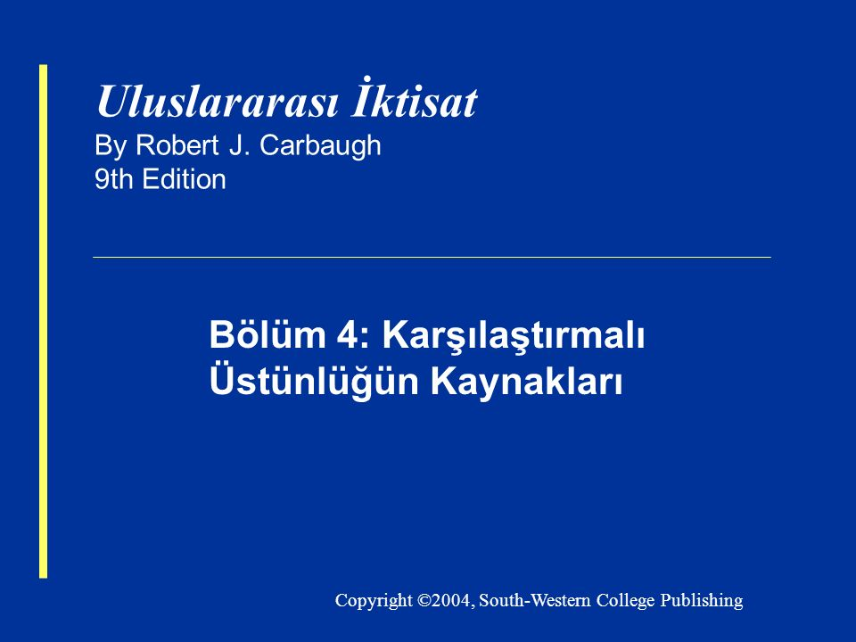 Uluslararası İktisat By Robert J. Carbaugh 9th Edition