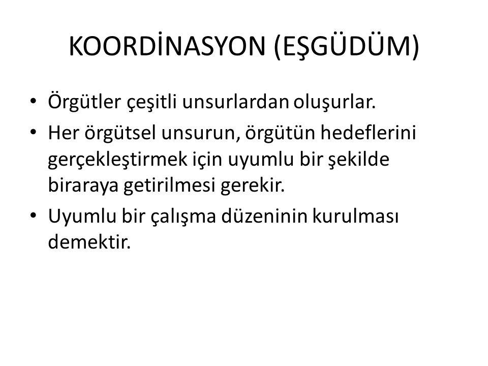 KOORDİNASYON (EŞGÜDÜM)