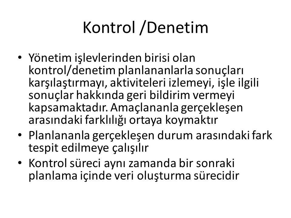 Kontrol /Denetim