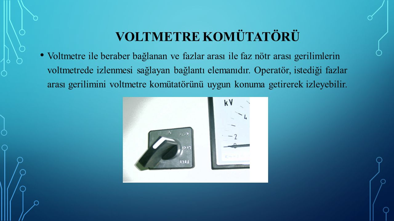 Voltmetre Komütatörü