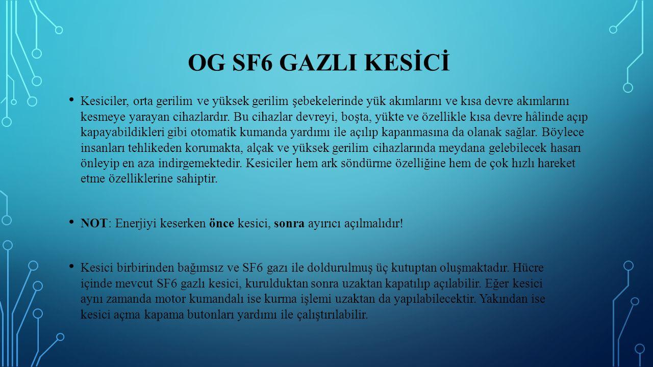 OG SF6 gazlI kesİcİ