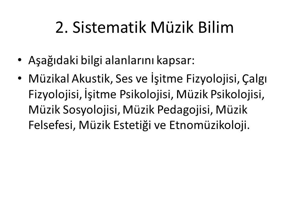2. Sistematik Müzik Bilim