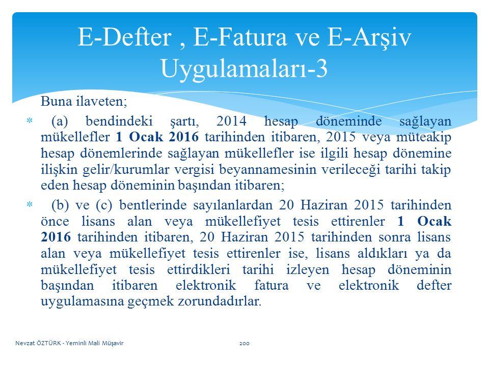 E-Defter , E-Fatura ve E-Arşiv Uygulamaları-3