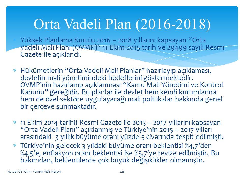 Orta Vadeli Plan (2016-2018)