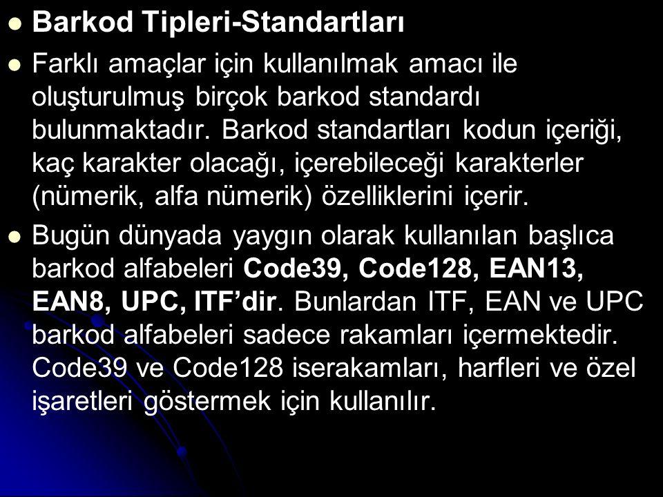 Barkod Tipleri-Standartları