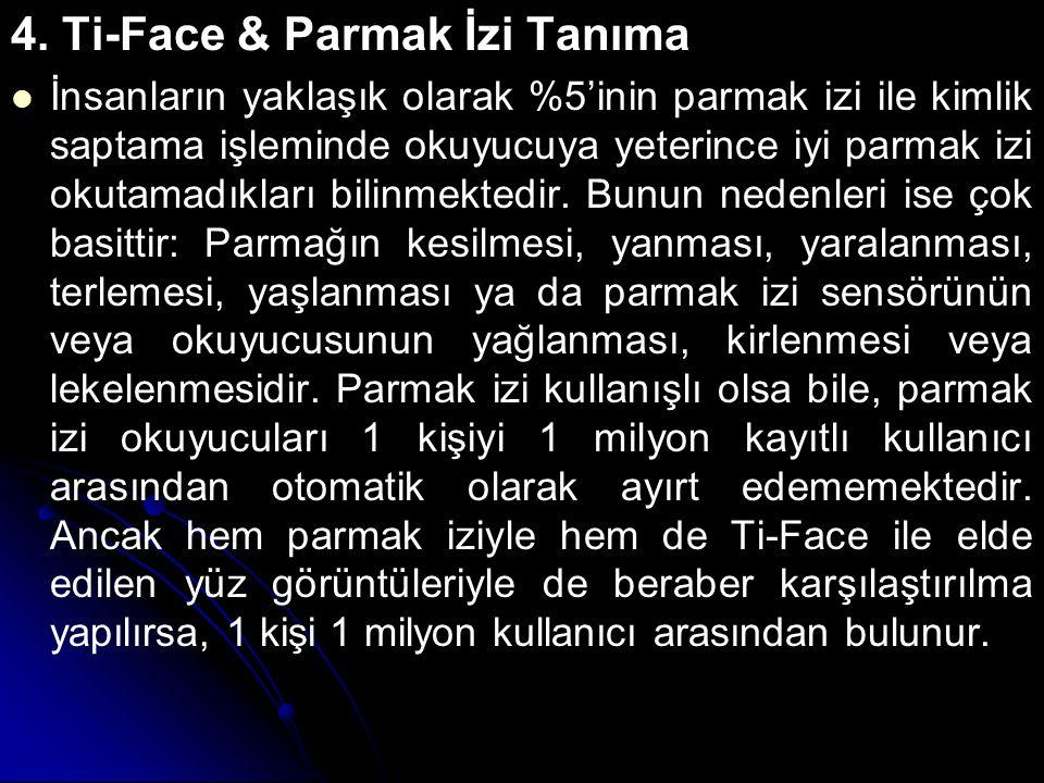 4. Ti-Face & Parmak İzi Tanıma