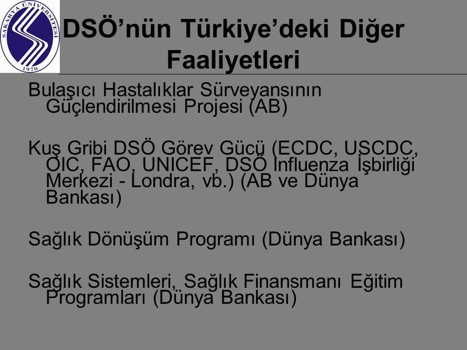 DSÖ'nün Türkiye'deki Diğer Faaliyetleri